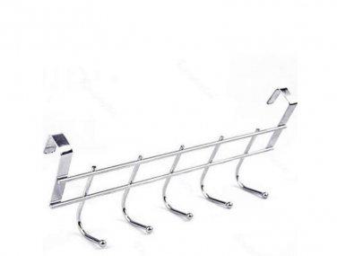 Over Door Hanging Rack Holder Five Hooks