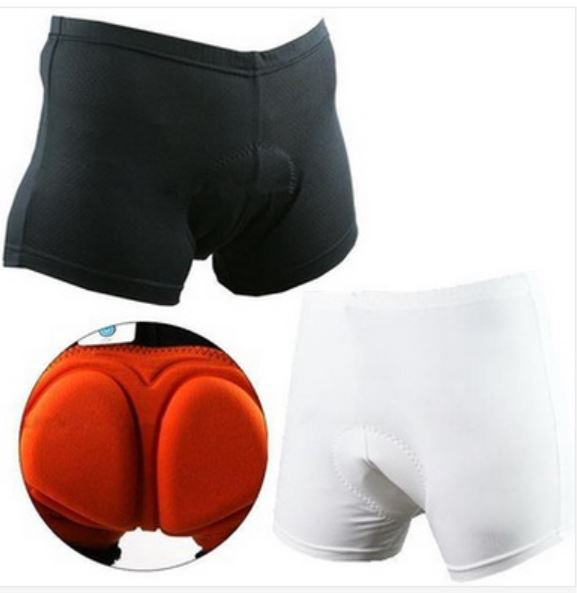 Unisex Bicycle Cycling Bike Short Underwear Pants Cushion Padded Coolmax