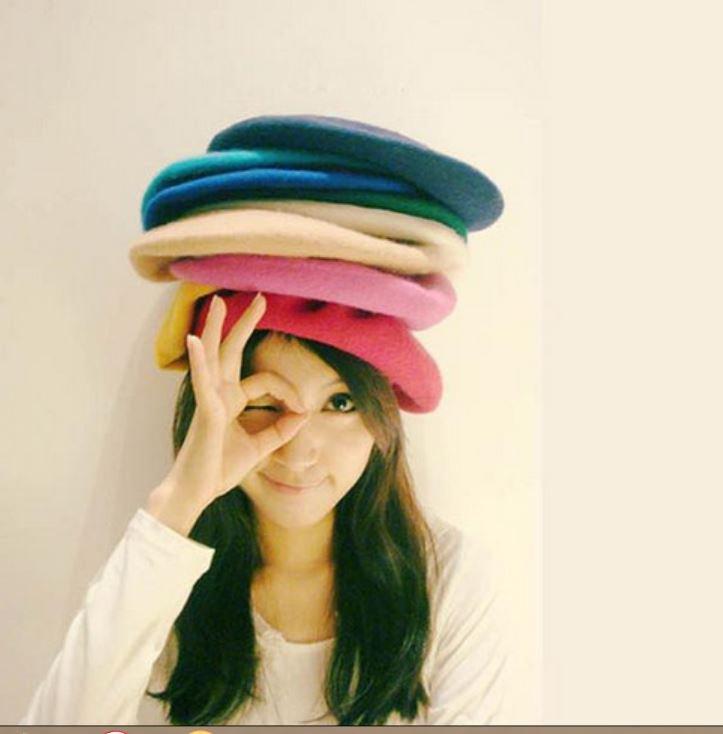 12 Color Fashion Women Lady Soft Wool Winter Warm Beret