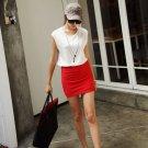 gridding skirt colorful breathe freely short office skirt
