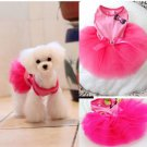 Dog Tutu Layered Princess Dress Hot Pink