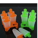 6 Cell Frozen Ice Cream Pop Mold Popsicle Maker Lolly Mould Tray Pan Kitchen