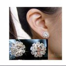 FASHION spherical Crystal Flower Stud Earrings for Women