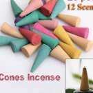 pack of 75 Mix Stowage Colorful Fragrance Triple Scent Incense Cones Potpourri