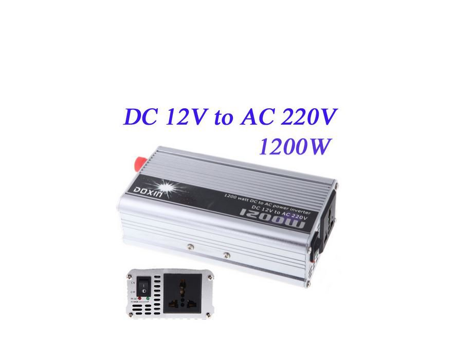 1200W WATT DC 12V to AC 220V Portable Car Power Inverter Adapater Charger Converter Transformer
