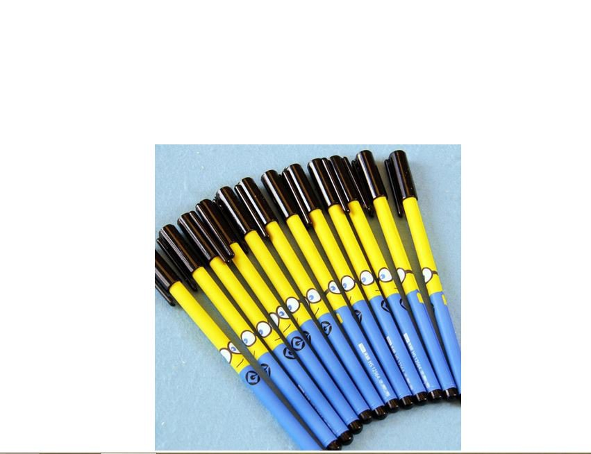 12 Minion Fashion Despicable Me Style Ballpoint Pens,Office and School Pen