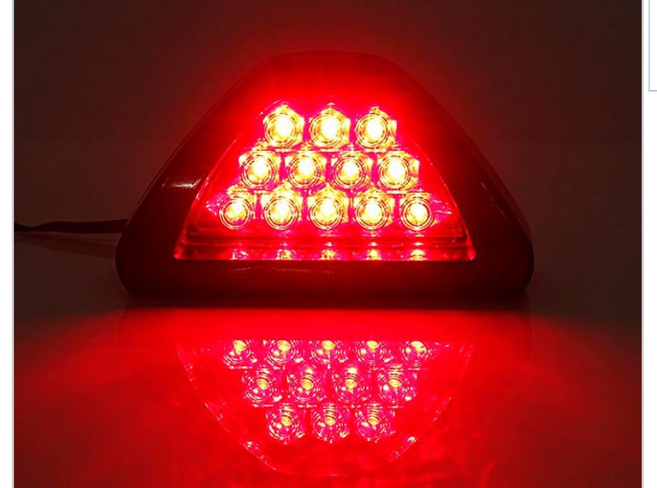 Universal Car 12 LED Rear Tail Brake DRL Stop Light Strobe Fog Lamp