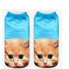 Cat 3D Print Animal women Socks Casual cartoon Socks Unisex Low Cut Ankle Socks