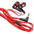 Red 3.5mm In-Ear Earphone Candy Color Symmetric Headphone Compact Flat Cable