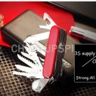 31 Funtions red swiss stainless steel outdoor camping survival pocket knife