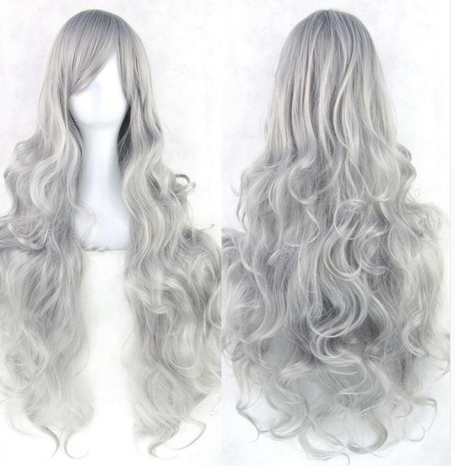 Long Women Wigs Heat Resistant Costplay Wig 32 in