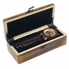 AUTOMATIC SANDALWOOD&STEEL SKELETON MEN WATCH Clock Male Antique