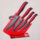 6pcs Gift Set , 3 Inch+4 Inch+5 Inch+6 Inch+peeler +Knife Holder Ceramic Knife Sets with Scabbard,