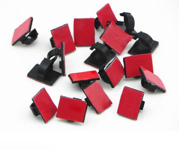 Rectangle Wire Tie Cable Fastners Mount Clamp Clip Car-styling 30 pcs