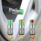 Auto Tire Pressure Monitor Valve Stem Caps Sensor Indicator Eye Alert Diagnostic Tools Kit