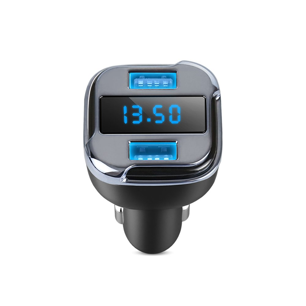 Dual USB Car Charger Phone Adpater With APP GPS Car Finder Locator Voltmeter Current Detect