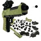DIY Building Blocks Toy Gun Beretta and Gunsight Assembly Toy Puzzle Model Can Fire Bullets