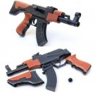 AK47 Building Blocks Gun Toy Assembled Model Building Can Shooting
