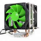 DUAL FAN HYDRAULIC CPU COOLER HEATPIPE FANS HEATSINK for intel
