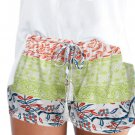 HIGH WAIST SHORTS SUMMER CASUAL HOT PANTS SHORTS SHORT Light  Green
