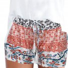 HIGH WAIST SHORTS SUMMER CASUAL HOT PANTS SHORTS SHORT Red