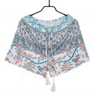HIGH WAIST SHORTS SUMMER CASUAL HOT PANTS SHORTS SHORT Blue-grey