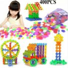 400 Pcs 3D Puzzle Jigsaw Plastic Snowflake Building Blocks Building Model Puzzle