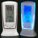 LED Back Light Square Digital Alarm Clock, Multi-function Music Calendar Thermometer Alarm Clock