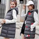 Plus size two-faced down cotton vest jacket M-3XL Grey