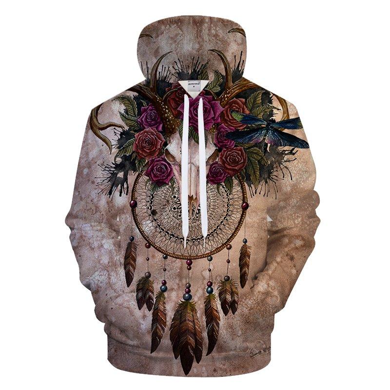 Exclusive Artist Skull dreamcatcher By Sunima Art 3D Print Hoodies  Jacket