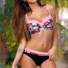 Swimwear Female Padded Bra beach wear Bathing Suit Pink