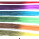 """HAIR EXTENSIONS CLIP IN ONE PIECE COLOR STRIPS 20"""" X 3 Clips set"""
