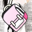 WOMEN BACKPACK 3D JUMP STYLE 2D DRAWING CARTOON BAG