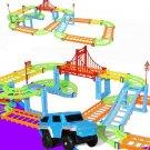 DIY Electric Racing Rail Car Kids Train Track Model Toy Baby Railway Track Racing Road
