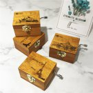 Retro Music Box Gifts Wind-up Toy Classical Wooden Handcraft Cranked Educational Toy