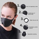 2X black mouth mask Anti haze dust-proof PM 2.5 cotton face muffle Respirator Windproof L3