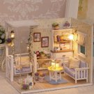 DOLL HOUSE FURNITURE DIY MINIATURE DUST COVER 3D WOODEN Miniaturas Dollhouse Toys