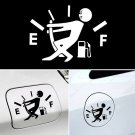 2 Pcs Funny Car Sticker Pull Fuel Tank Pointer To Full Hellaflush Reflective Vinyl Car Sticker Decal