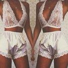 Lace pajamas suit hanging neck vest underwear Lingerie Lace Dress Babydoll Small to XL