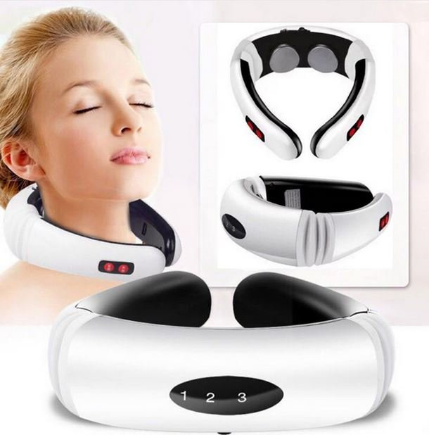 Pulse Neck Massager Infrared Heating Pain Relief Tool