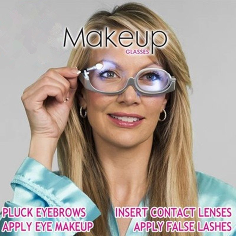 Perfect Make up Flip Up Glasses with Led For Myopia