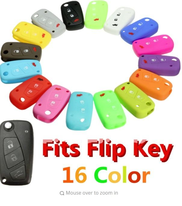 Luminous Car Key Case Silicone Cover for FIAT Panda