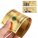 One Million set of 2  24K Gold Plated Realistic Antique Donald Trump  & Melania Decoration Banknotes
