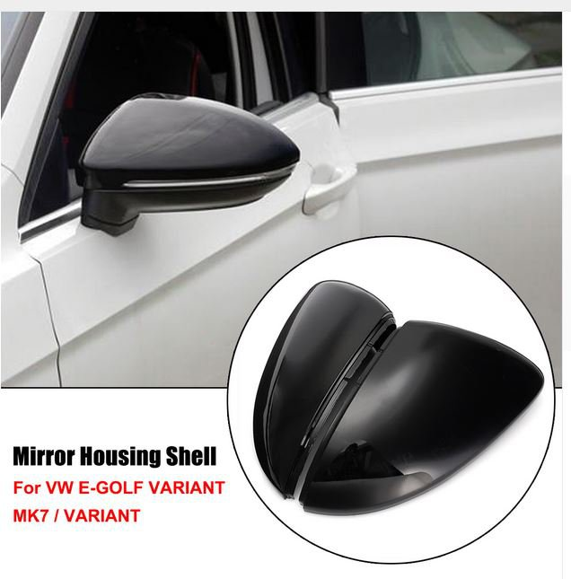 Mirror Cover Side Wing Rear View Mirror Case Covers For VW Golf MK7 Golf Variant E-Golf L+R