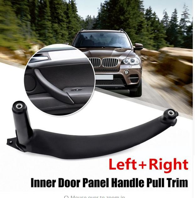 Left or Right Front rear Car Interior Door Handles Inner Door Panel Handle Pull Trim Cover For BMW