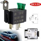 On/Off Car Motor Automotive Fused Relay DC 12V 30A 4 Pin 4P SPST Metal