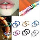 False Hoop Ring Septum 6 Colors 2 Pcs Clip On Boby Nose ears