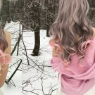 Two Tones Ombre Long Curly Hair For Women 24in Grey + pink