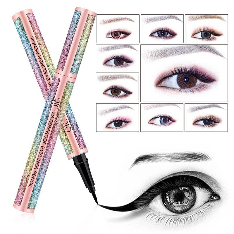 Starry Sky Eye Liner Pencil Long Lasting Waterproof Eyeliner Pen Smudge-Proof