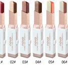 Pro Double Color Gradient Velvet Eye Makeup Shadow Stick Waterproof Shimmer Metallic